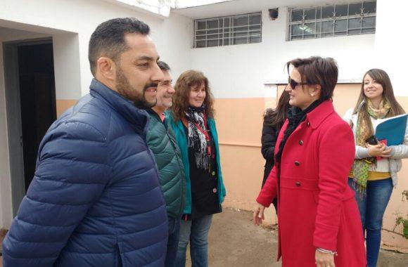 Myrian Prunotto y Jose Peralta relevaron los jardines de la ciudad