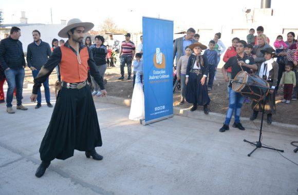 Inauguración de pavimento en Estación Juárez Celman - Myrian Prunotto - Ramón Mestre (2)