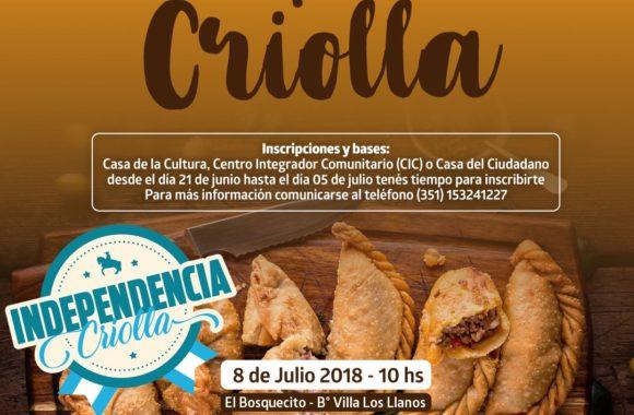 2º Concurso La Empanada Criolla - Estación Juárez Celman - Gestión Myrian Prunotto