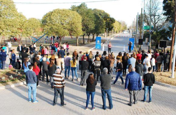 La intendente Myrian Prunotto inaugura obras en Juárez Celman
