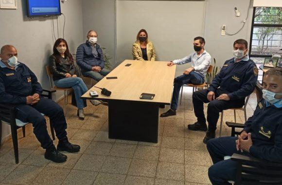 La Intendenta Myrian Prunotto junto a intendentes y autoridades policiales de la Zona de Inspección II del departamento Colón