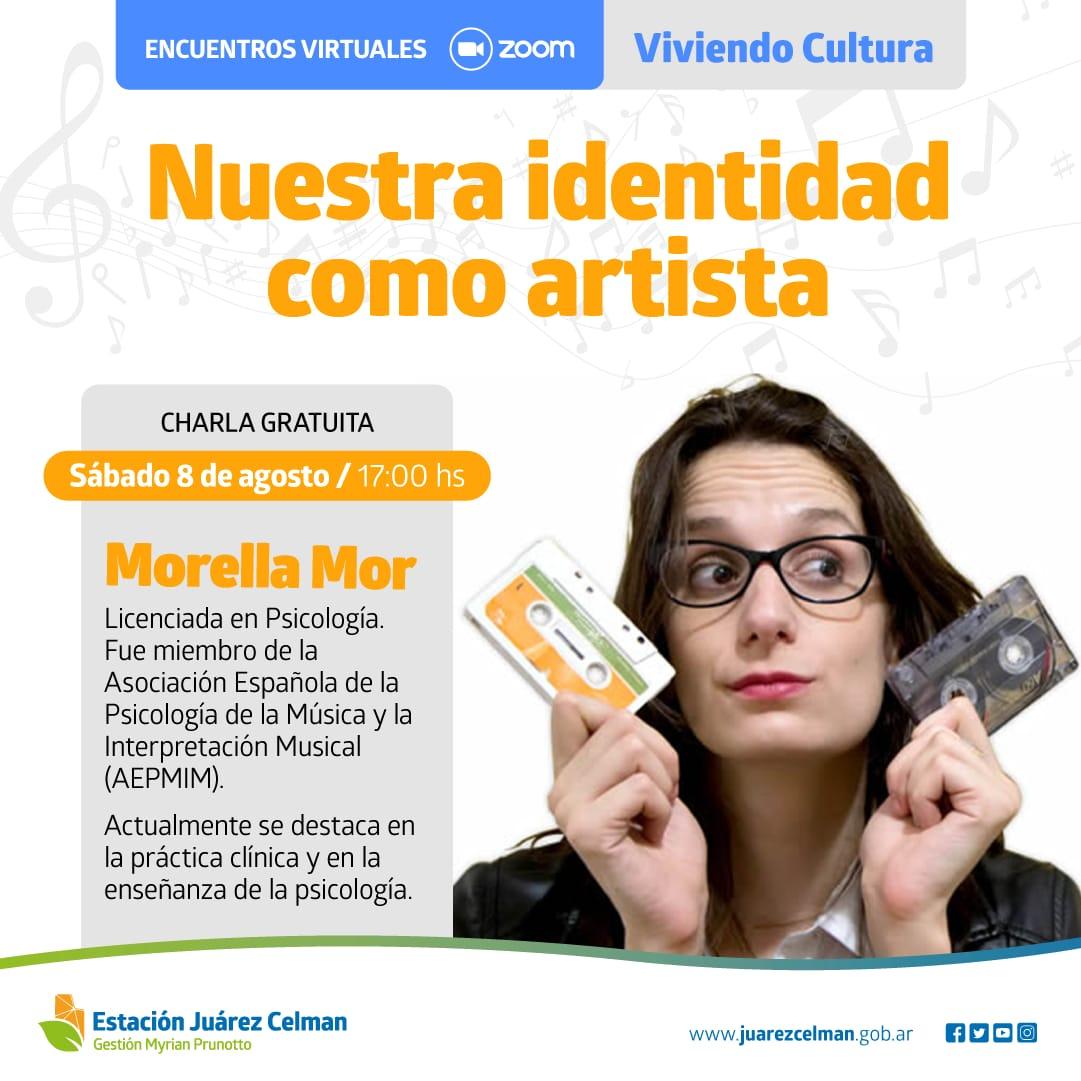 Winscripcion a los encuentros virtuales viviendo cultura la identidad del artista gestion Myrian Prunotto estación juárez celman
