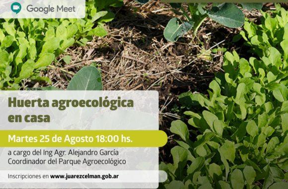 Huerta agroecológica en casa inscripción taller gratuito Estación Juárez Celman gestión Myrian Prunotto