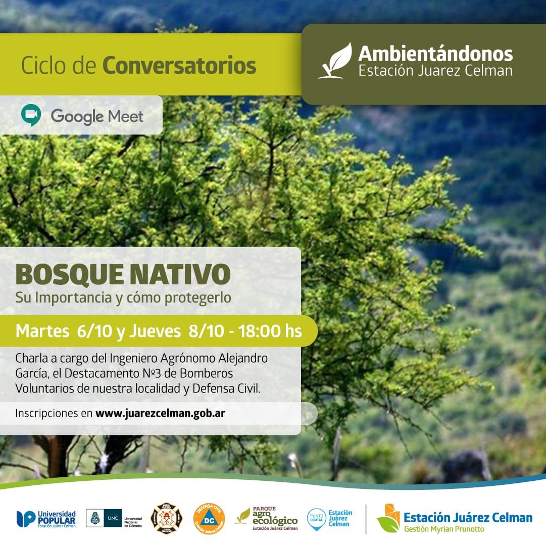 ciclo de charlas parque agroecológico bosques nativos estacion juarez celman gestion myrian prunotto