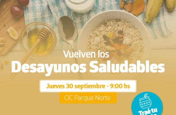 Desayunos saludables estación Juárez Celman Gestión Myrian Prunotto